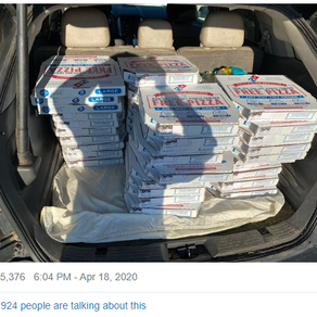 Raising Men Lawn Care founder delivers pizzas to essential workers
