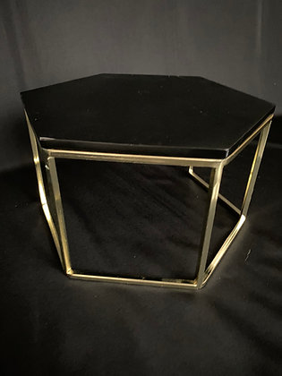 Black and Gold Metal Cake Stand