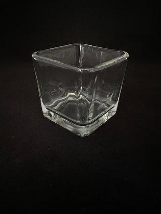 """3½"""" x 3½"""" Square Glass Votives"""