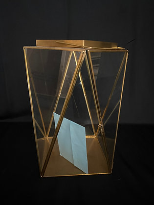 Large Gold Geometric Card Holder