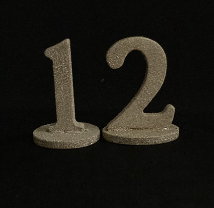 Gold Sparkly Table Number