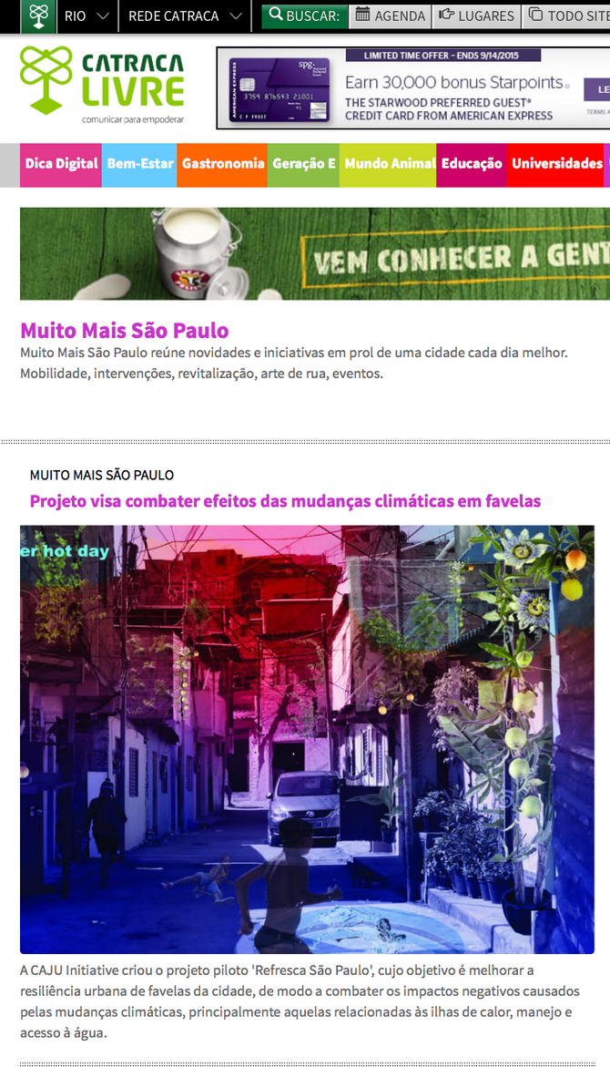 Refresca Sao Paulo publicado na Catraca Livre