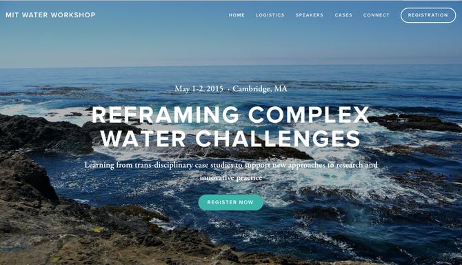 MIT Water Workshop  Reframing Complex WaterChallenges