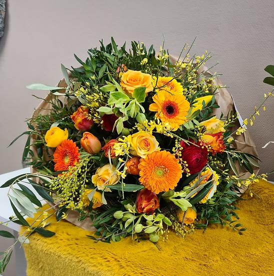 Saisonstrauß in gelb - orange