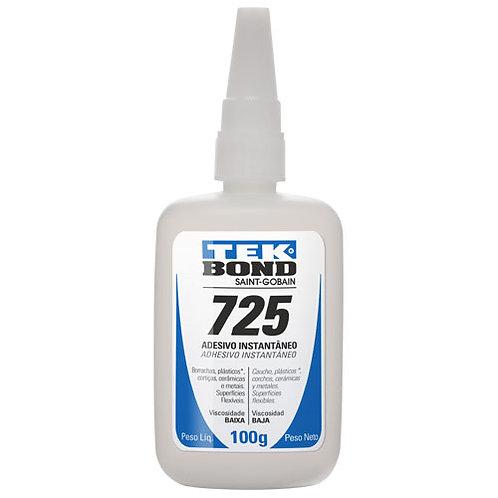 Adesivo Instantâneo 725 - 100g Baixa Viscosidade - Tek Bond