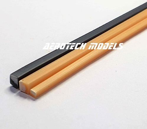 Perfil Quadrado em ABS 3MM x 930MM - Cor Marfim
