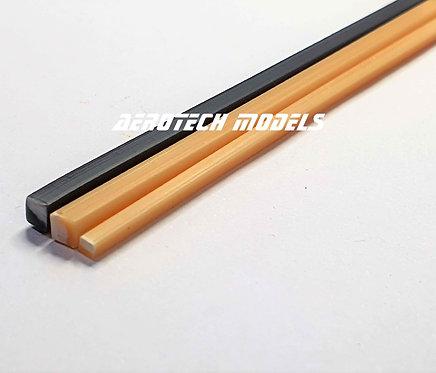 Perfil Quadrado em ABS 2MM x 930MM - Cor Marfim