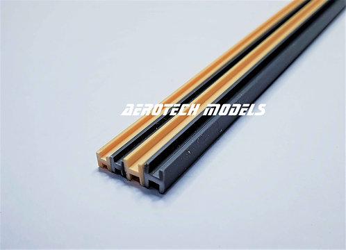 Perfil H em PVC 1.5MM x 930MM - Cor Ferro