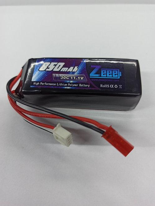 3S Bateria de LiPo 11,1V 850mAh 30C JST