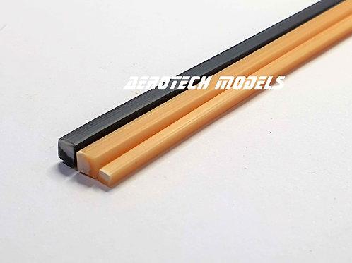 Perfil Quadrado em ABS 2MM x 930MM - Cor Ferro