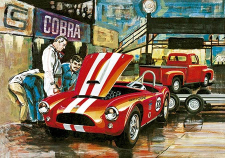 Cobra Racing Team (Shelby Cobra & Ford Pickup 1953 & Trailer) - 1/25