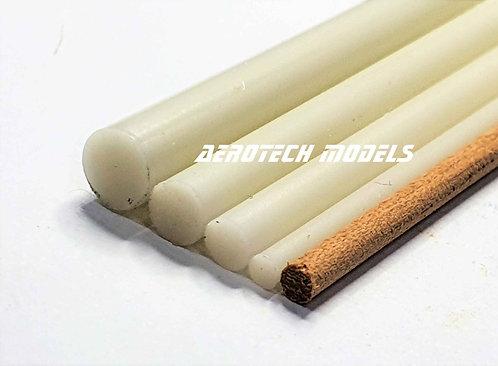 Perfil Redondo em PVC 5MM x 930MM - Cor Marfim