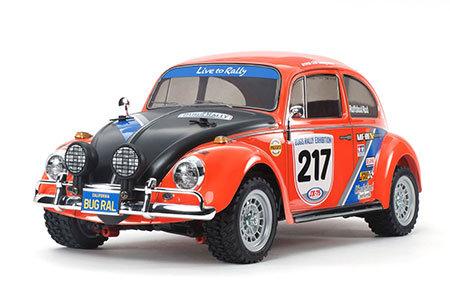 Fusca Volkswagen Beetle Rally R/C - 4WD - 1/10 Tamiya