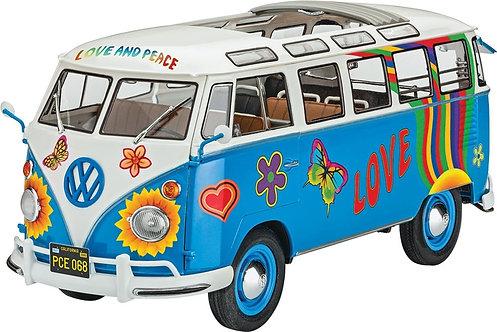 Kit para montar Kombi Volkswagen T1 Samba Bus Flower Power - 1/24 - Revell