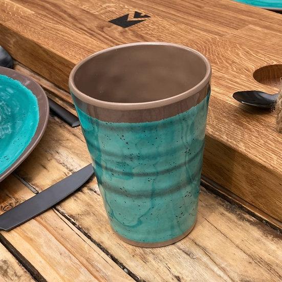 Halo Aqua Melamine Cups