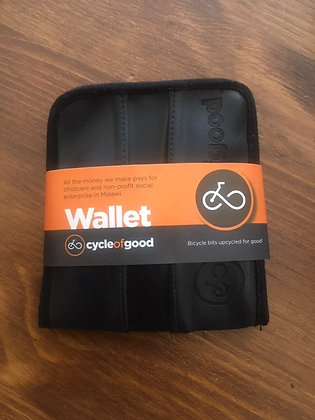 Cycle of Good Wallet (recycled inner tubes)