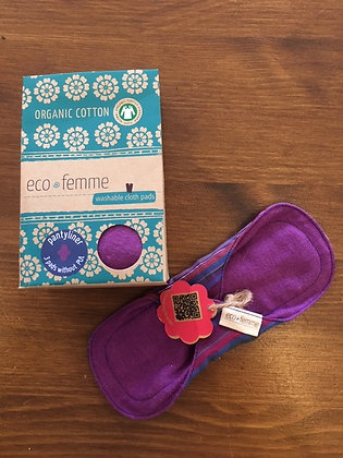 Eco Femme Panty Liner 3 pack (without PUL) - vibrant