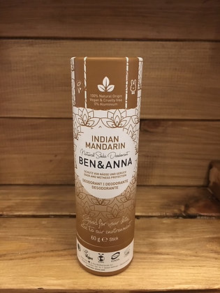 Ben & Anna Deodrant Stick - Indian Mandarin