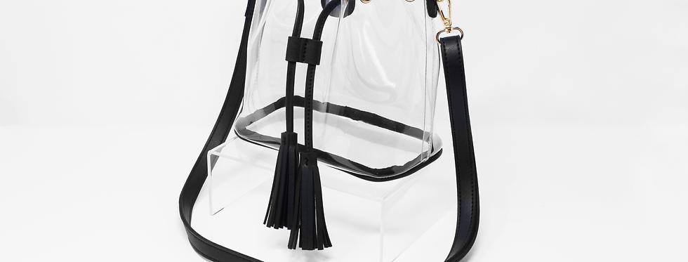 clearlee bucket bag | black