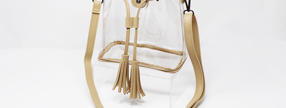clearlee bucket bag | tan