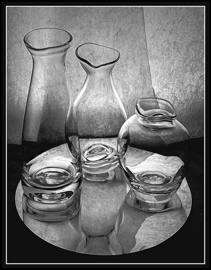 Triple Reflection #3 in Black & White