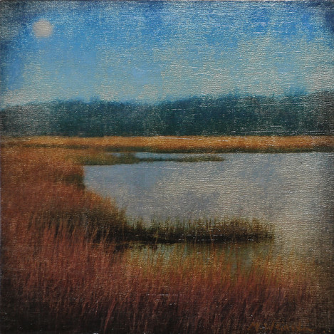 Flax Pond Moonrise (SOLD)