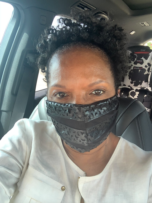 LEATHER & LINEN FACE MASK