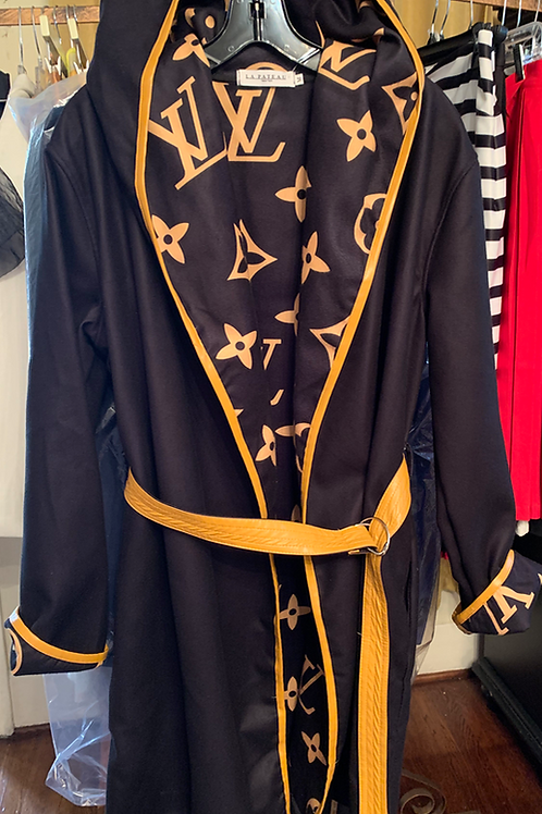 LV EMBELLISHED & LINED WALKING COAT