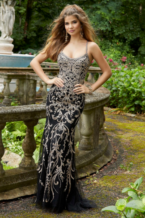 CRYSTAL AND LACE GOWN