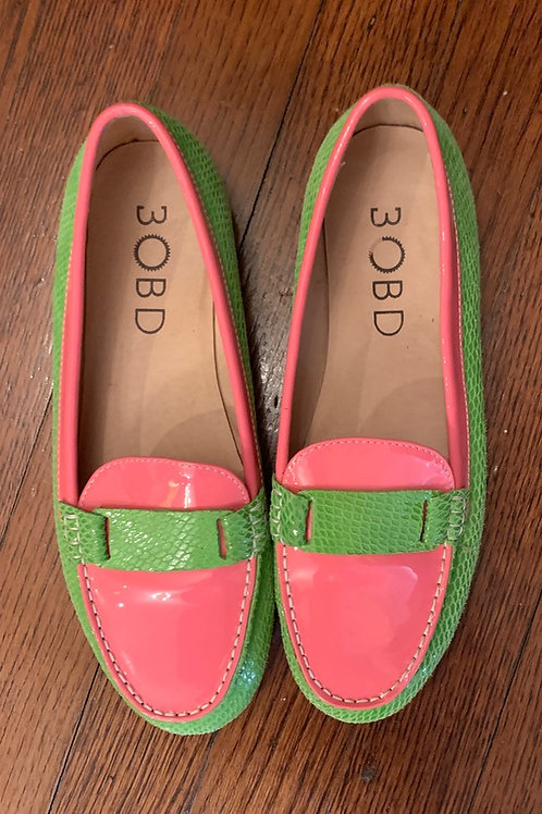 PINK & GREEN LOAFERS