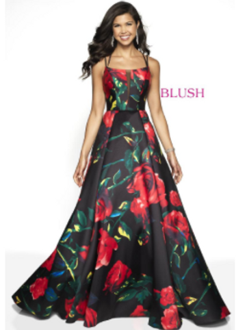 FLORAL LOW-BACK BALL GOWN