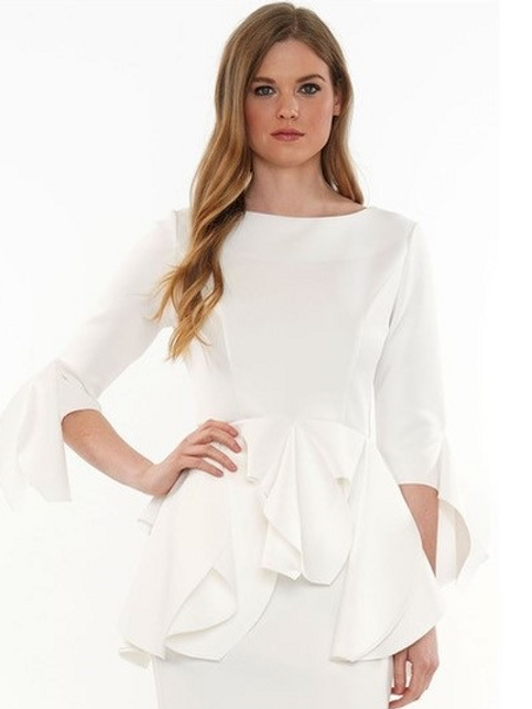 TWO-PIECE RUFFLE EDGE SUIT