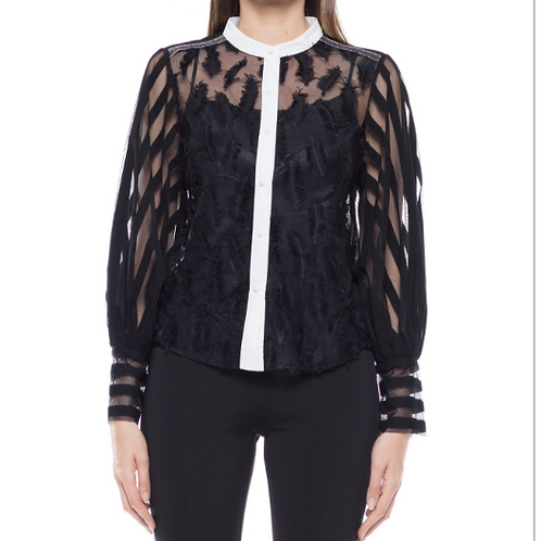 Feather Embellished Blouse