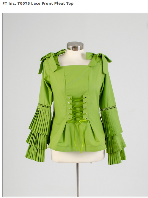 LACE FRONT PLEATED TOP