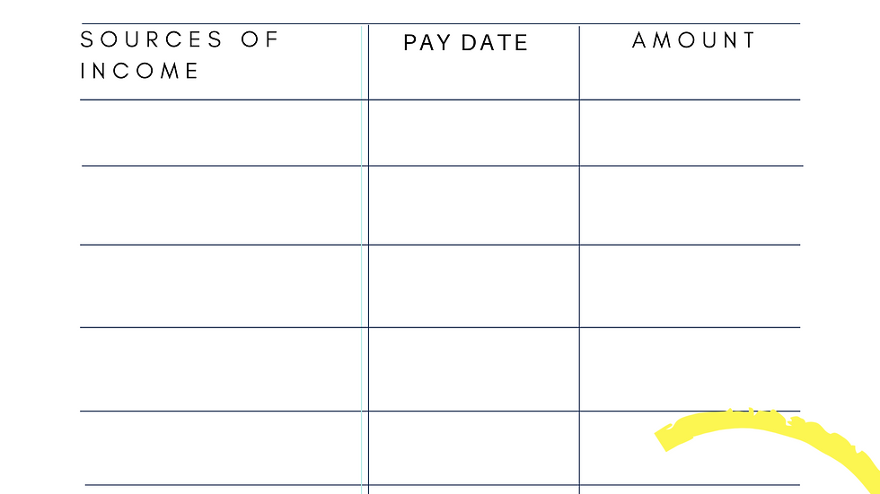 Step 3: Monthly Income/Expense Trackers