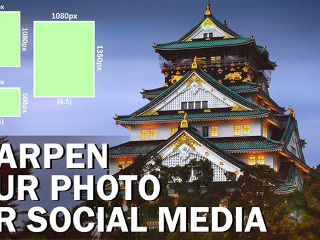 How to sharpen your photo for social media and web