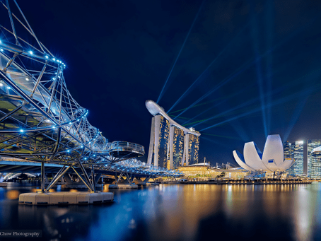 The Marina Bay Sands Light Show – Before & After