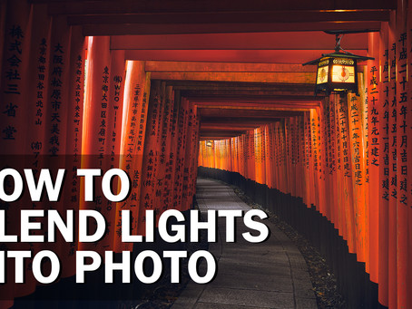 How to blend lights into a photo