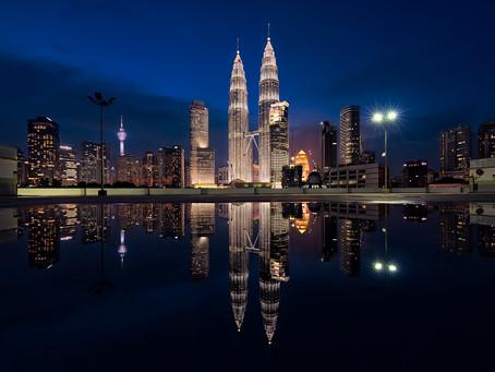 Kuala Lumpur Twin Tower Reflection