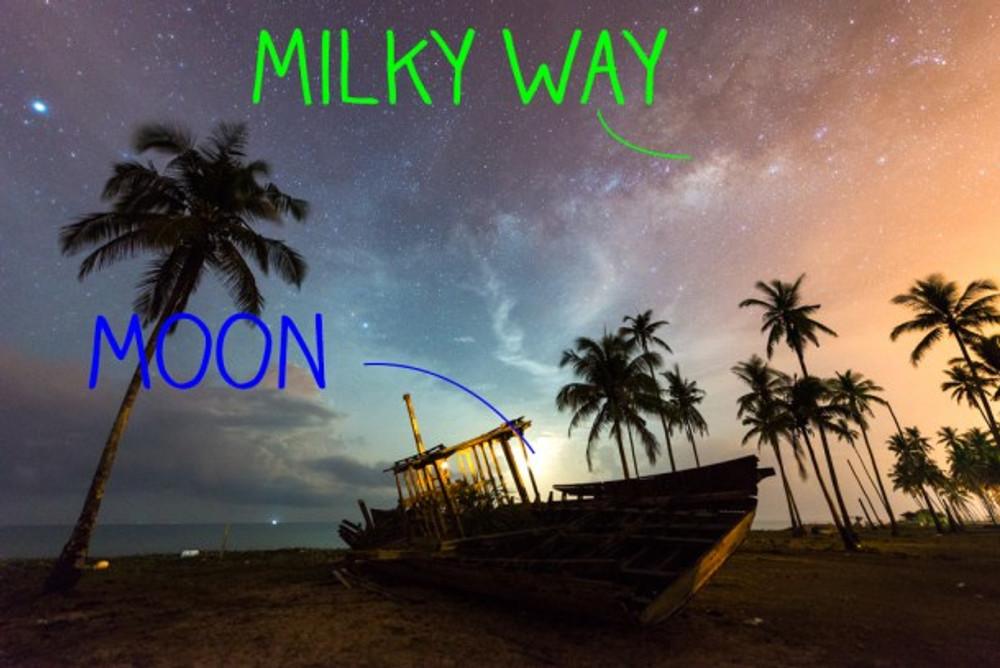 2_2.Moon vs milky way