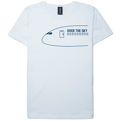Airplane nose design white color cotton T-shirt
