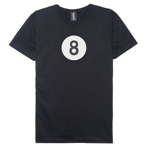 8 ball pool design black color cotton T-shirt