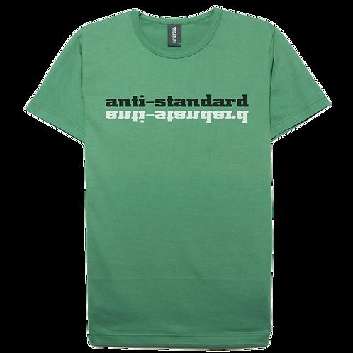 Anti standard design moss color cotton T-shirt