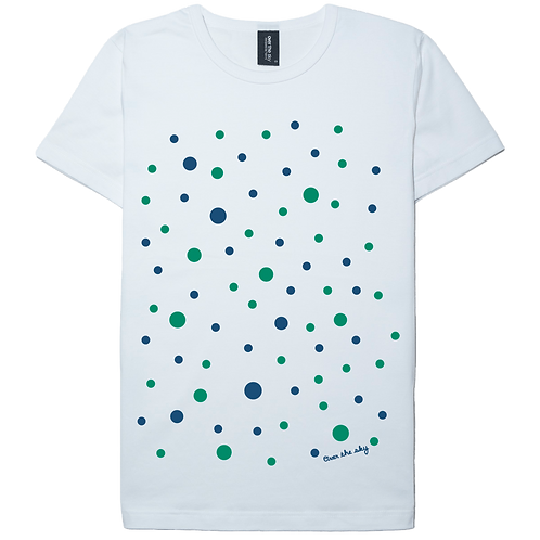 Cute dot design white color cotton T-shirt