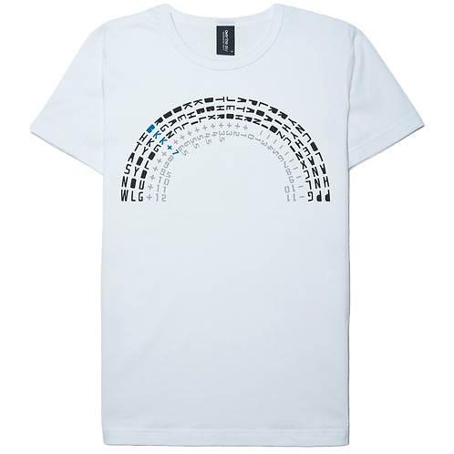 Time Zone design white color cotton T-shirt