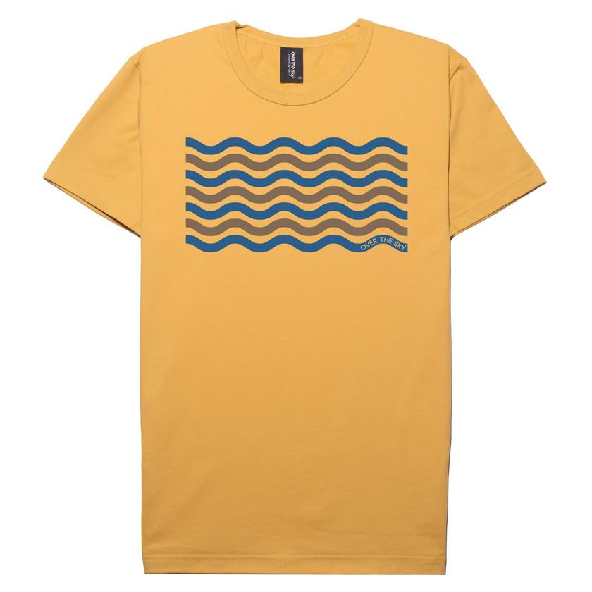 Wave Lines-Mustard