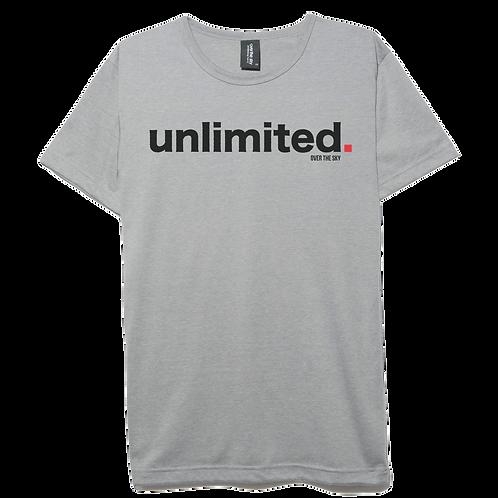unlimited design light gray color cotton T-shirt
