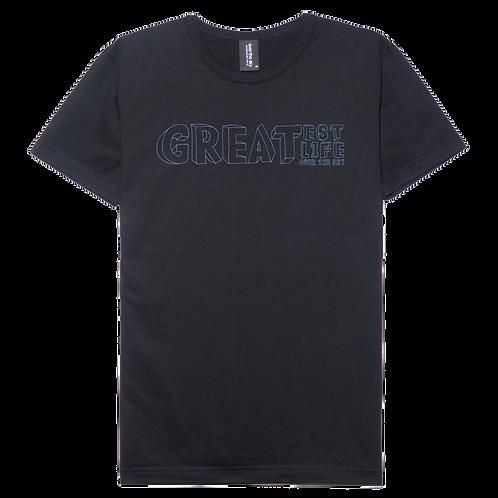 Greatest Life design black color cotton T-shirt