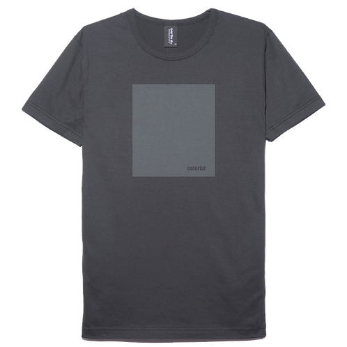 Colorist design charcoal gray color cotton T-shirt