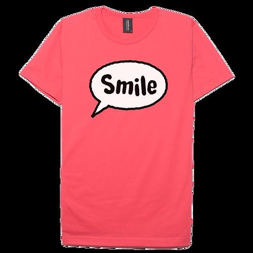 Smile design pink color cotton T-shirt